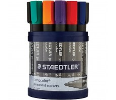 STAEDTLER PERMANENT MARKERS TUB 19 ASSORTED BULLET