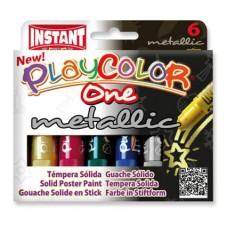 PLAYCOLOR ONE PAINT STICKS - METALLIC - SET 6