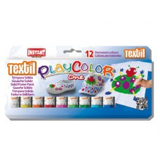 PLAYCOLOR ONE PAINT STICKS - TEXTILE - SET 12