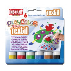 PLAYCOLOR ONE PAINT STICKS - TEXTILE - SET 6