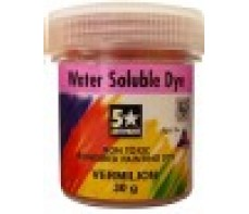 FIVE STAR WATER SOLUBLE DYES POWDER - VERMILLION