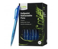 ICON BULK BALLPOINT PEN BOX 50 BLUE