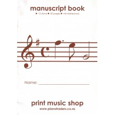 A4 MUSIC BOOK PIANO TRADERS