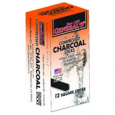 COMPRESSED CHARCOAL STICKS - 12'S - MEDIUM