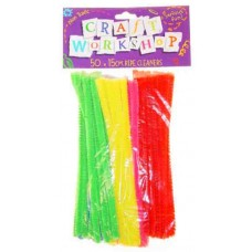 HALF SIZE PIPE CLEANERS - 15CM - 50'S