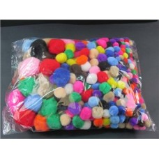 POM POMS - ASSORTED - BAG 400