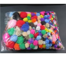 POM POMS ASSORTED BAG 400