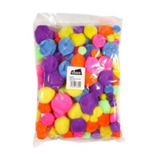 POM POMS - NEON COLOURED - 150'S
