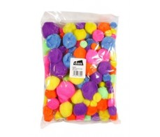 POM POMS NEON COLOURED 150'S