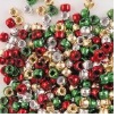 CHRISTMAS PONY BEADS - PACKET 1000