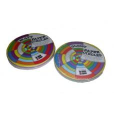 COLOURED PAPER SHAPES - CIRCLES - GLOSS - 360'S