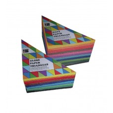 COLOURED PAPER SHAPES - TRIANGLES - GLOSS - 720'S