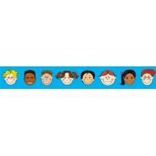 Regular Border - Multicultural Kids RB577