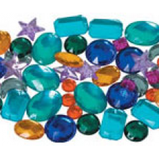 RHINESTONES - LARGE ASSORTED - 25GSM BAG