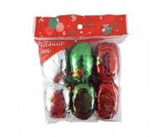 CURLING RIBBON XMAS PACK 6