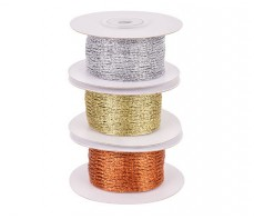 STRETCHABLE MESH RIBBON 9 METRES ( 3 X 3M) METALLIC