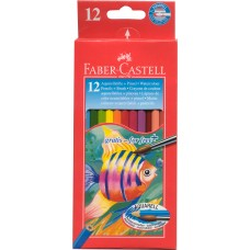FABER RED RANGE - 12'S - FULL SIZE - WATER COLOUR PENCILS