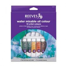 REEVES WATERMIXABLE OIL PAINTS SET 18 X 10ML