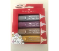 FABER CASTELL HILIGHTER METALLIC SET 4
