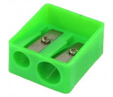 PLASTIC PENCIL SHARPENERS DOUBLE HOLE