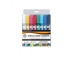 SIMPLY ACRYLIC PAINT MARKERS SET 8