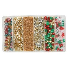 CHRISTMAS BEAD BOXES - ASSORTED