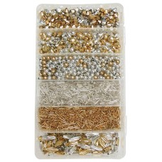 CHRISTMAS BEAD BOXES - GOLD & SILVER