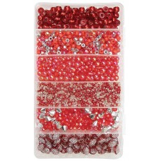 CHRISTMAS BEAD BOXES - RED