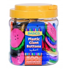 PLASTIC BIG BUTTONS - 500GSM TUB
