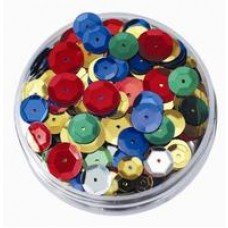 SEQUINS - EMBOSSED - ROUNDS - 50GSM JAR