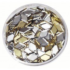 SEQUINS - DIAMONDS - GOLD/SILVER - 50GSM JAR