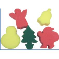 CHRISTMAS SPONGES - 5'S