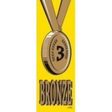 SELF ADHESIVE RIBBONS - BRONZE - 100'S - SR709