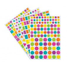 ADHESIVE SHAPES ASSORTED 40 SHEETS