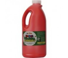 FAS SUPER TEMPERA POSTER PAINT 2 LITRE BRILLIANT RED