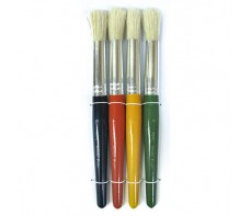 STUBBIE BRUSHES SET 4 ROUND LARGE
