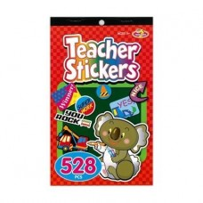 STICKERS TEACHERS STICKER PAD 528 ASSORTED