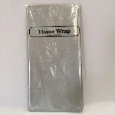 METALLIC TISSUE PAPER - 8 SHEETS - SILVER