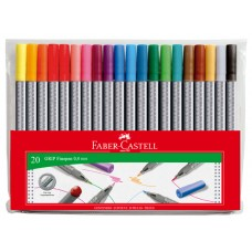 FABER CASTELL FINELINERS GRIP - 20'S