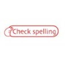 TEACHERS STAMPS - CHECK SPELLING - TS2365