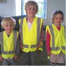 HIGH VISIBILITY CHILDRENS VESTS - LARGE