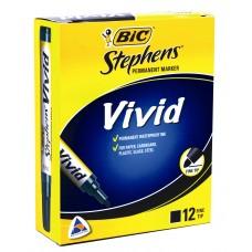 STEPHENS VIVID MARKERS FINE TIP BLACK ( EA)