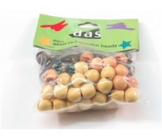 WOODEN BEADS - OVAL ASSORTED PLAIN - 10MM - 80'S
