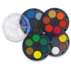 KOHI WATER COLOURS 24'S ROUND TRAYS