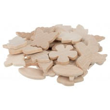 NATURE  THEMED - WOODEN SHAPES