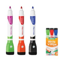 WRITE N WIPE DOUBLE ENDED MAGNETIC WHITEBOARD - SET 3