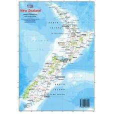 NEW ZEALAND LAMINATED MAP