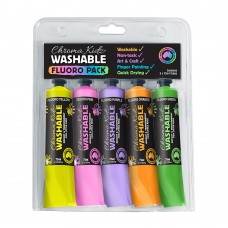 Chroma Kidz Washable Fluoro Paint 5 X 75ml Set