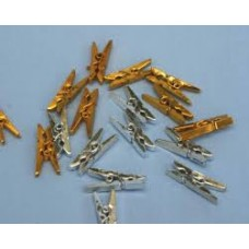 METALLIC PEGS GOLD/SILVER - SMALL - 15'S