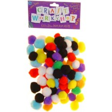 POM POMS - MINI - 100'S - 13MM